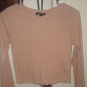 Lettuce Edge Long Sleeve Top (Cropped)